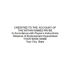 BANK-CRED - Credited to account of...