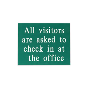 SIGN-VISITOR - All visitors are asked...