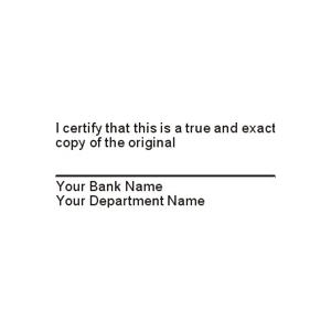 BANK-CERTIFY - I certify that this is a...