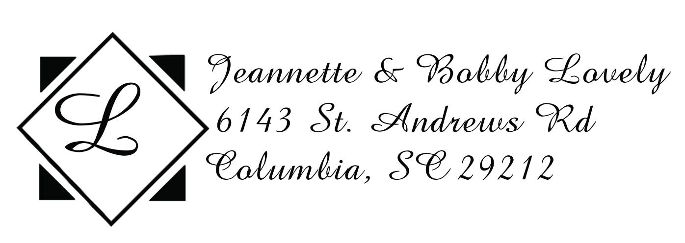 MONO-32 - Monogram Address Stamp Style 32