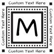 MONO-9 - Monogram Address Stamp Style 9