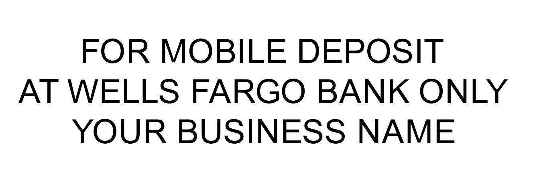 FOR MOBILE DEPOSIT AT WELLS FARGO BANK ONLY ALBA ENTERPRISES